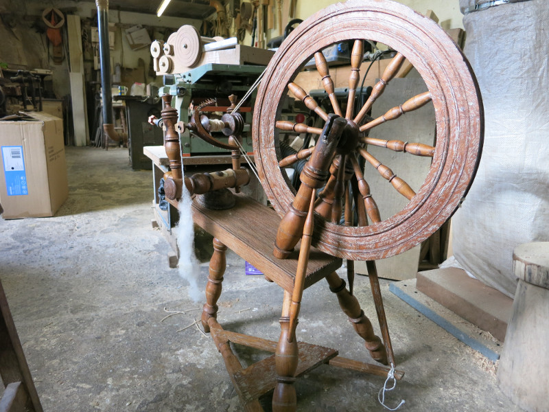 Ann McGonigle's Restored Spinning Wheel
