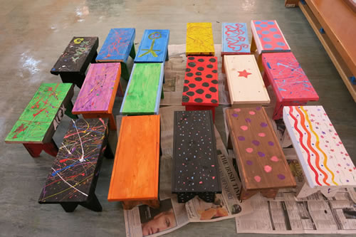 School Stools of Many Colours!